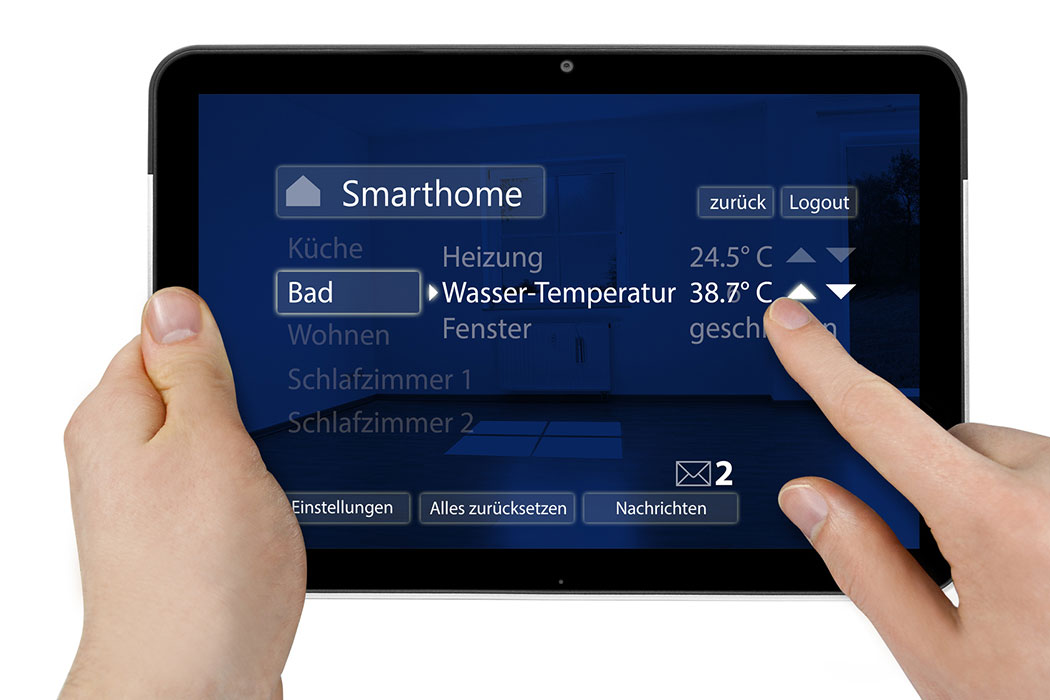 Tablet mit Interface und Smarthome