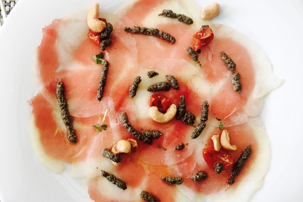 Fischcarpaccio im Es Vi auf Mallorca