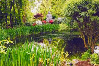 Buddha-Deko auf Mallorca