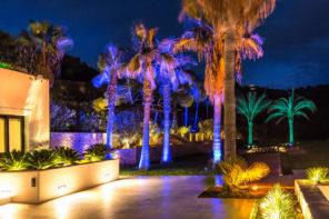 Effektvolle Gartenbeleuchtung auf den Balearen