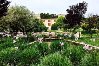 Tafeln im Castell Son Claret Mallorca