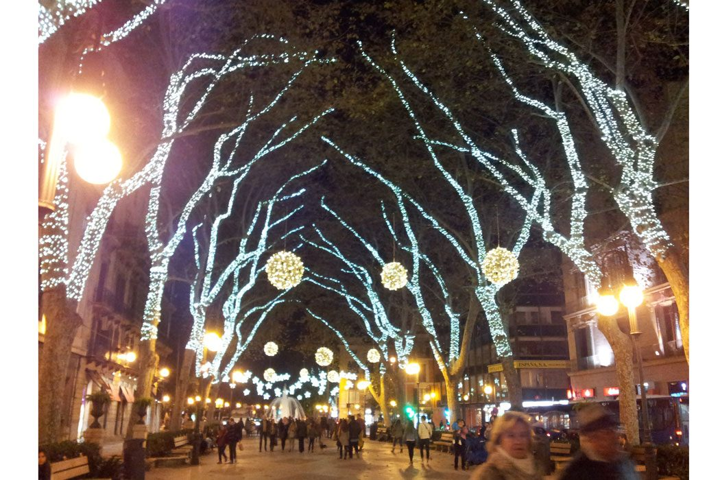 Weihnachtsbeleuchtung in Palma