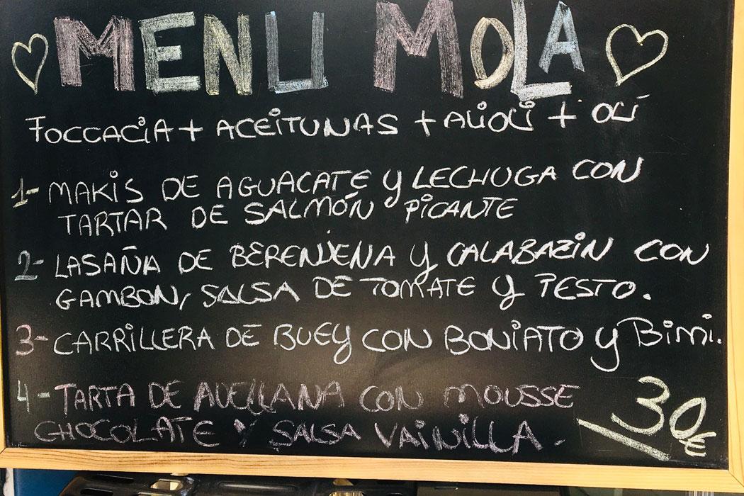 Restaurant Mola Molinar auf Mallorca