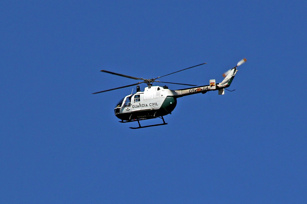 Corona-Kontrolle per Hubschrauber